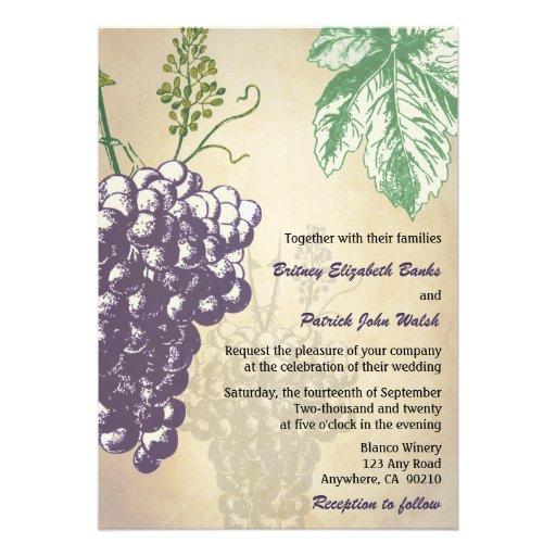 vintage tuscan winery vineyard wedding invitations - Vineyard Wedding Invitations