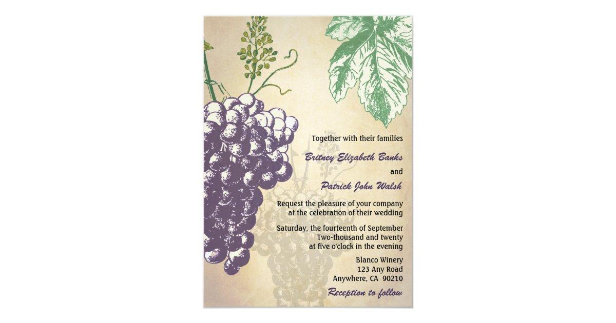 Tuscan Themed Wedding Invitations: Vintage Tuscan Winery Vineyard Wedding Invitations