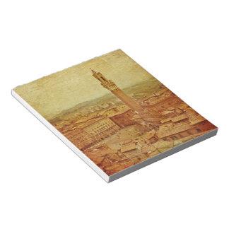 Vintage Tuscany, medieval Siena Notepad
