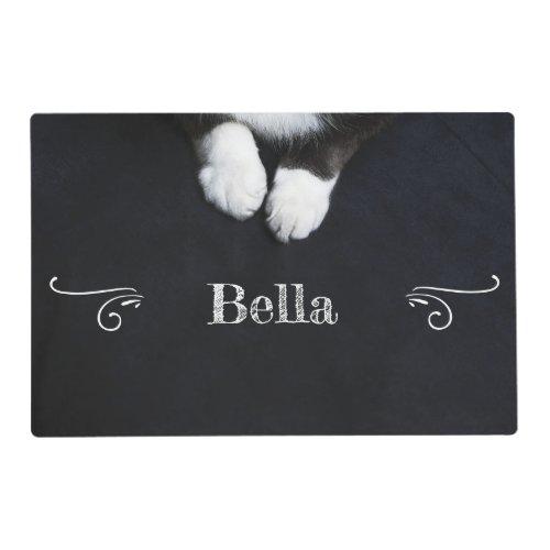 Vintage Tuxedo Cat Paws Placemat
