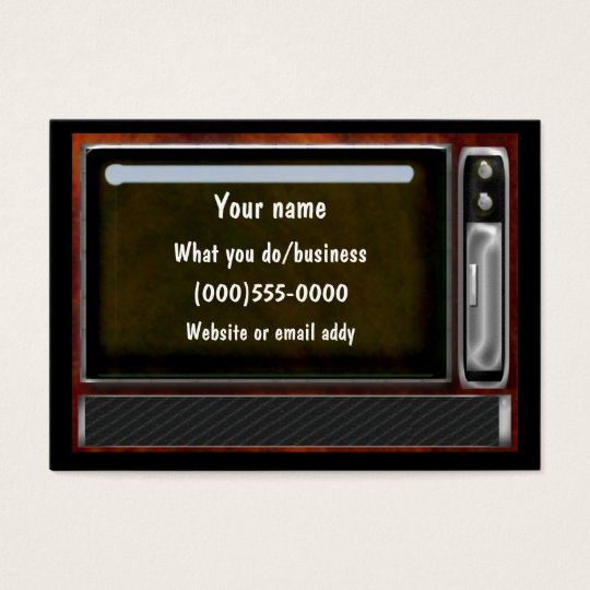 vintage tv business card