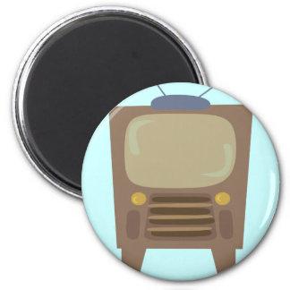 vintage TV del estilo de los años 50 Imán Redondo 5 Cm