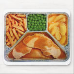 """Vintage TV Dinner Pork Loin Mouse Pad<br><div class=""""desc"""">Vintage TV Dinner Pork Loin,  with fries,  peas and glazed apples. I&#39;ll skip the peas thank you!  If you enjoy vintage please visit my other stores at; zazzle.com/seemonkee zazzle.com/retronaut zazzle.com/blackandwhiteonly zazzle.com/carte_postale zazzle.com/mode_feminine  — featuring over 3, 500 top quality vintage designs!</div>"""