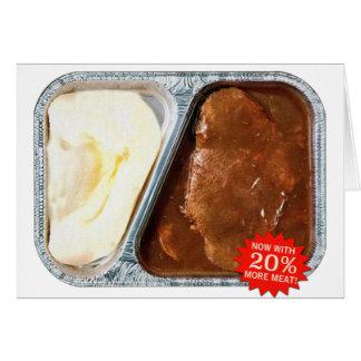 Vintage TV Dinner Salisbury Steak Now More Meat Card
