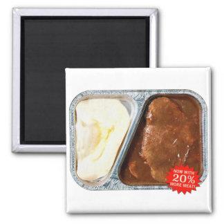 Vintage TV Dinner Salisbury Steak Now More Meat Magnet