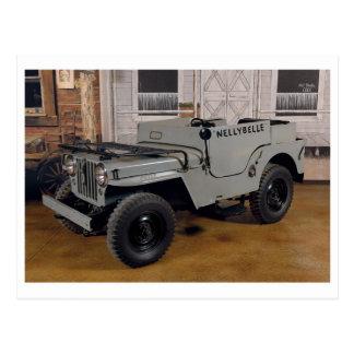 Vintage TV Jeep Postcard