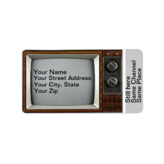 Vintage TV Re-run Address Labels