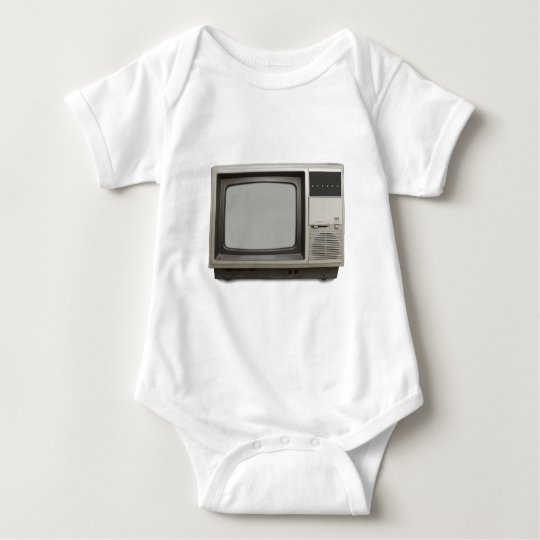 vintage tv set baby bodysuit