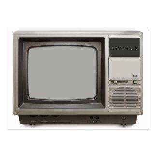 vintage tv set business cards