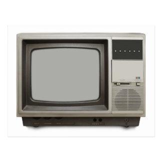 vintage tv set postcard