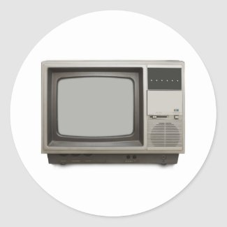 vintage tv set sticker