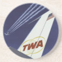 Vintage TWA Jet Tailfin Coaster