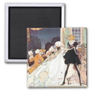 Vintage Twelve Dancing Princesses by Kay Nielsen 2 Inch Square Magnet