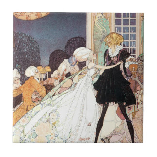 Vintage Twelve Dancing Princesses by Kay Nielsen Ceramic Tile