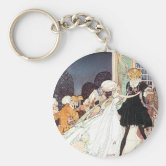 Vintage Twelve Dancing Princesses by Kay Nielsen Keychain