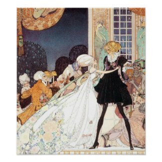 Vintage Twelve Dancing Princesses by Kay Nielsen Poster
