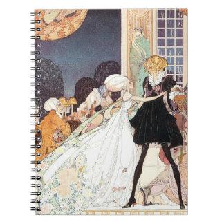 Vintage Twelve Dancing Princesses by Kay Nielsen Spiral Note Book