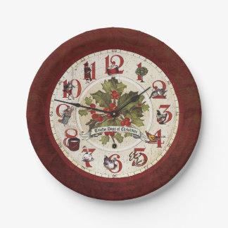 Vintage Twelve Days of Christmas Paper Plate