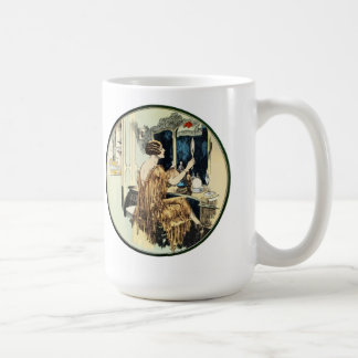Vintage Twenties Lady at her Dressing Table Coffee Mug