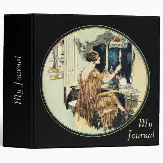 """Vintage Twenties Lady at her Toilette 2"""" Binder"""