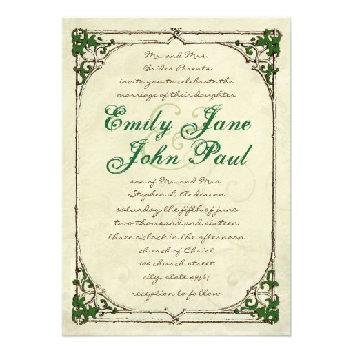 twig ivy frame wedding invitation 5 x 7 invitation card zazzle