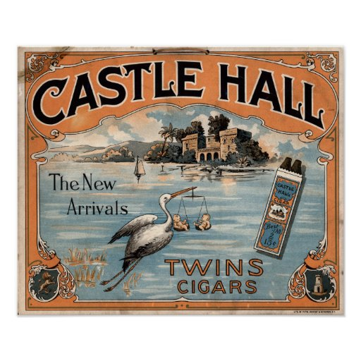 Vintage Twin Cigars Advertisement Poster