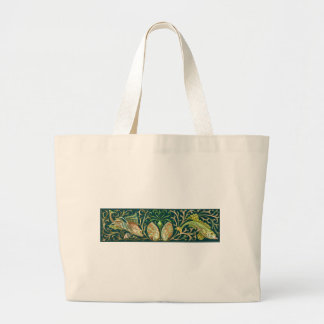Vintage Twin Fishes Canvas Bag