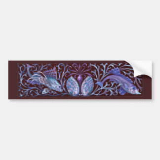 Vintage Twin Fishes Bumper Stickers