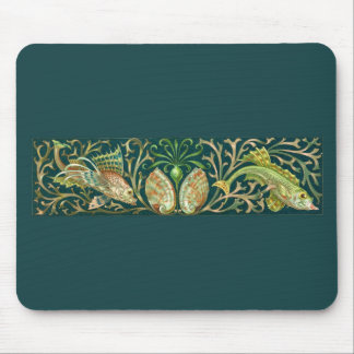 Vintage Twin Fishes Mouse Pad