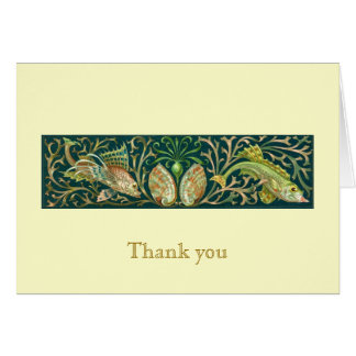 Vintage Twin Fishes Thank You Note Cards