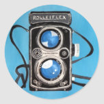 Vintage Twin Lens Camera Classic Round Sticker