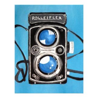 Vintage Twin Lens Camera Letterhead
