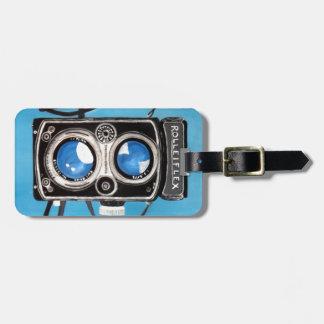 Vintage Twin Lens Camera Travel Bag Tag