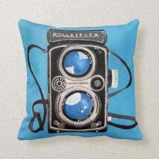 Vintage Twin Lens Camera Throw Pillow