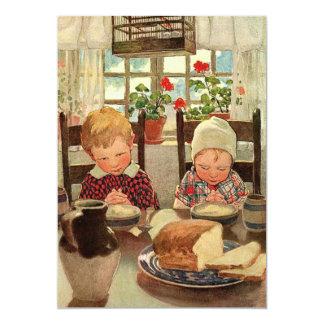 Vintage Twins Children Birthday Party Invitation