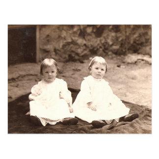 Vintage Twins Postcard
