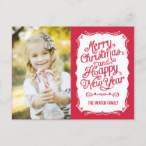Vintage Type Holiday Photo Card Postcard