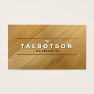 Bamboo wood business cards templates zazzle vintage type logo on bamboo wood business card colourmoves Images