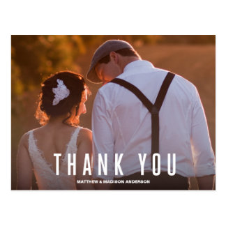 VINTAGE TYPE | WEDDING THANK YOU POST CARD