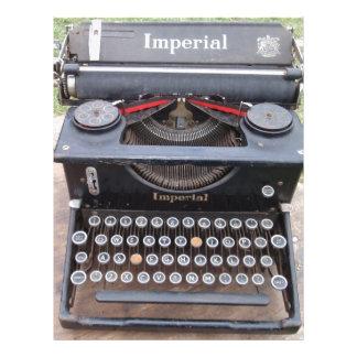 Vintage Type Writer Personalized Letterhead