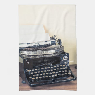 Vintage Type Writer Retro Telep Kitchen Dish Towel