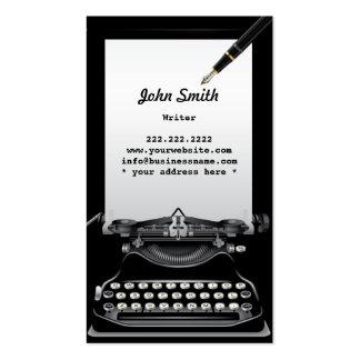 Vintage Typewriter and Pen Writer Business Card