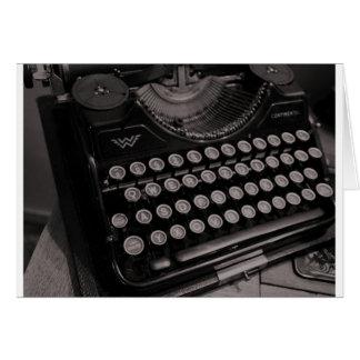 Vintage typewriter B&W Card