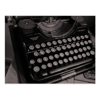 Vintage typewriter B&W Postcard