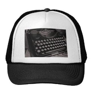 Vintage typewriter B&W Trucker Hat