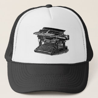 Vintage Typewriter - Black Trucker Hat