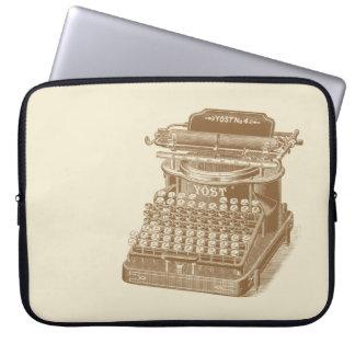 Vintage Typewriter Brown Type Writting Machine Laptop Computer Sleeve