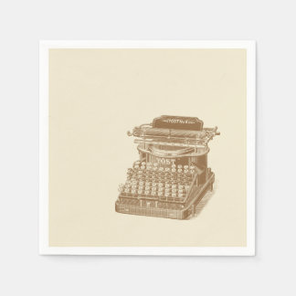 Vintage Typewriter Brown Type Writting Machine Paper Napkin