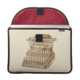 Vintage Typewriter Brown Type Writting Machine Sleeve For MacBook Pro