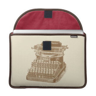 Vintage Typewriter Brown Type Writting Machine Sleeve For MacBook Pro